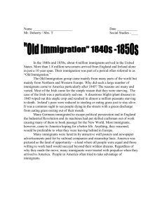 Lesson 2 Old Immigration Reading in pairs