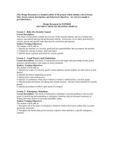 8 HR  Guard Card Course - Security Guard Certification