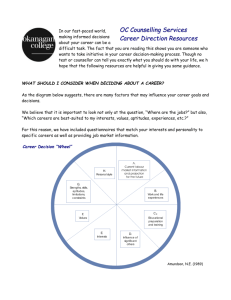 Career Directions Resources - To Parent Directory
