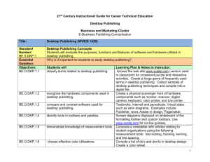 Curriculum Guide - Career and Technical Education