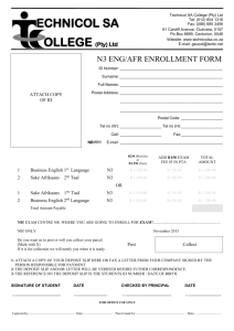 Enrollment form 1