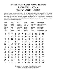 WATER WORD SEARCH COMPETITION