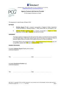 PCG Supplier-Agency Agreement - opted out