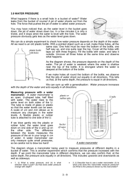 3.9 Water pressure - Basic Science & Technology