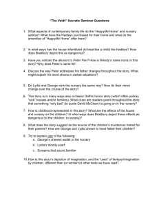 """The Veldt"" Socratic Seminar Questions"