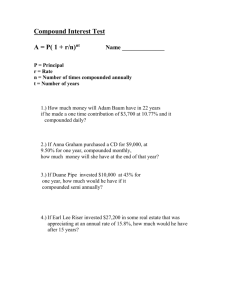 Compound Interest Test 5 2012 - Reeths