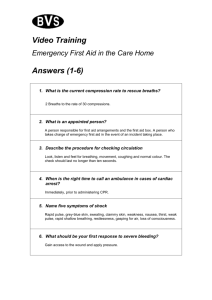 Emergency First Aid in the Care Home