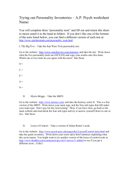 Example Introduction Paragraphs For Personality Essay There Are Personality Inventory Private High School Admission Essay Examples also Thesis Statements Examples For Argumentative Essays  Science Essay Ideas