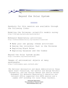Beyond the Solar System ccccccc Handouts for this session are