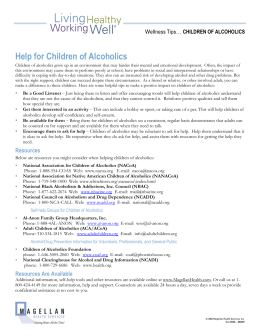 Help for Children of Alcoholics