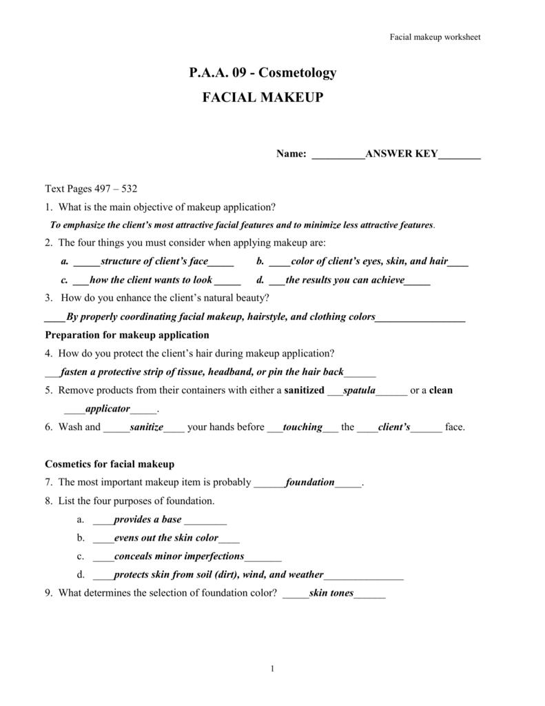 facial makeup - Miller