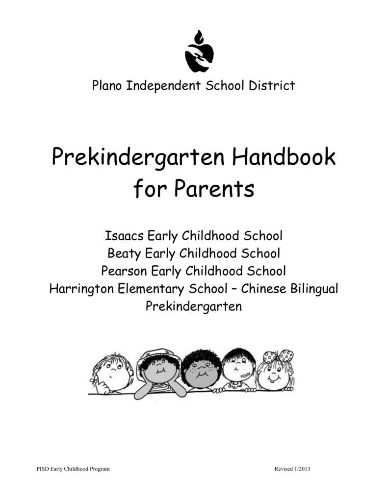 Pre K Parent Handbook - Plano Independent School District