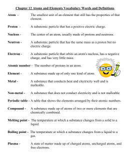 Chapter 12 Vocabulary words and definitions