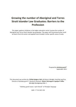 Growing the number of Aboriginal and Torres Strait Islander Law
