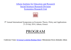 2014 - Athens Institute for Education & Research