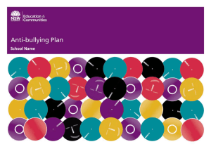 Anti-bullying Plan Template - NSW Department of Education