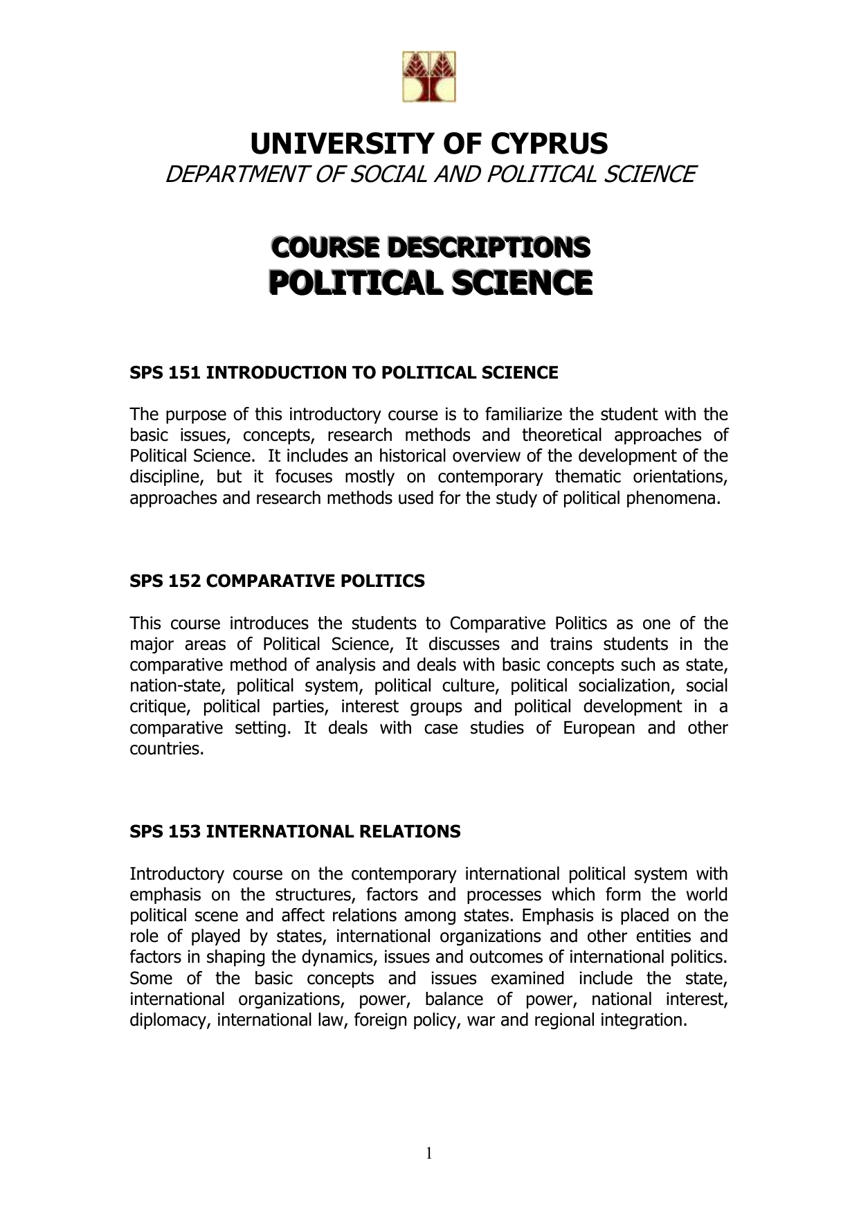 introduction to comparative politics syllabus