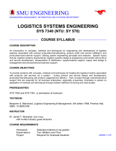 course syllabus - Lyle School of Engineering