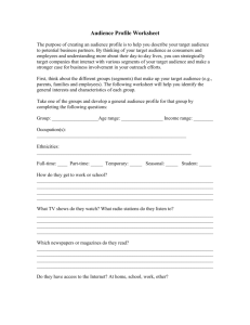 Audience Profile Worksheet