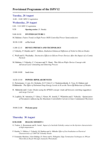 Provisional Programme of the ISPS'12