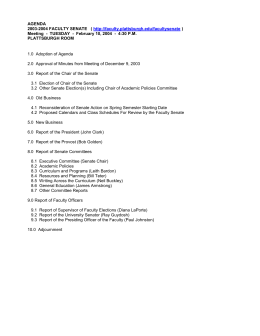 Agenda For Meeting of February 10, 2004