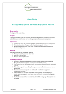 Managed Equipment Services A Case Study
