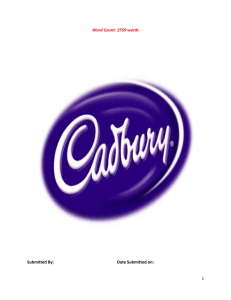 Cadbury - Cheap Assignment Help