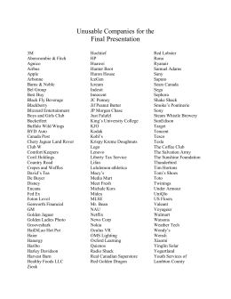 Unusable Presentation Organization List