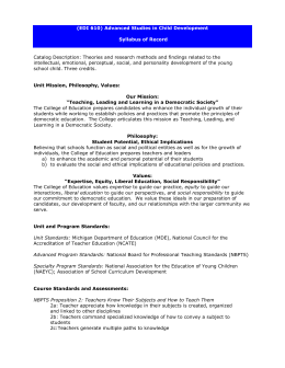 Science Health And Nature Study Syllabus
