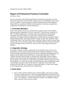 Report of Professional Practices Committee