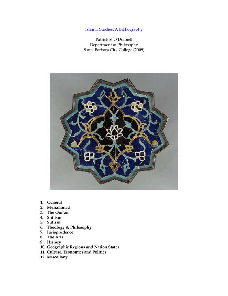 Islam: A Select Bibliography - Jurisdynamics
