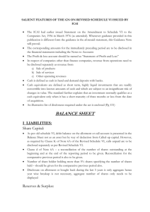 salient features of guidance note of icai on schedule vi
