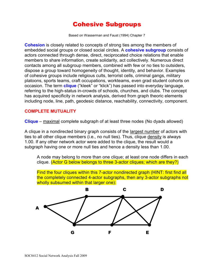 Fundamentals of Social Network Analysis