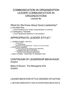 leader communication in organizations