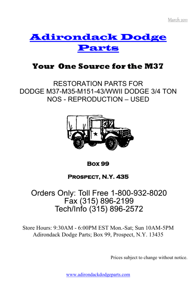 Dodge WC 3//4 Ton WWII Fuel Tank Sending Unit G-502