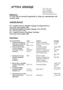 curriculum vitae - Comsats Institute of Information Technology