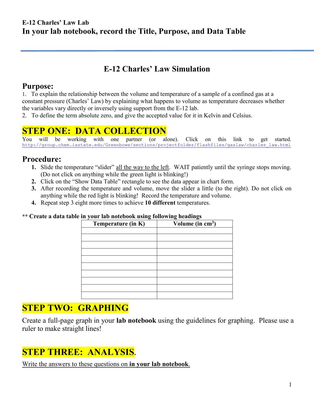 Graphing Charles Law Worksheet Answers Graphing Charles Law
