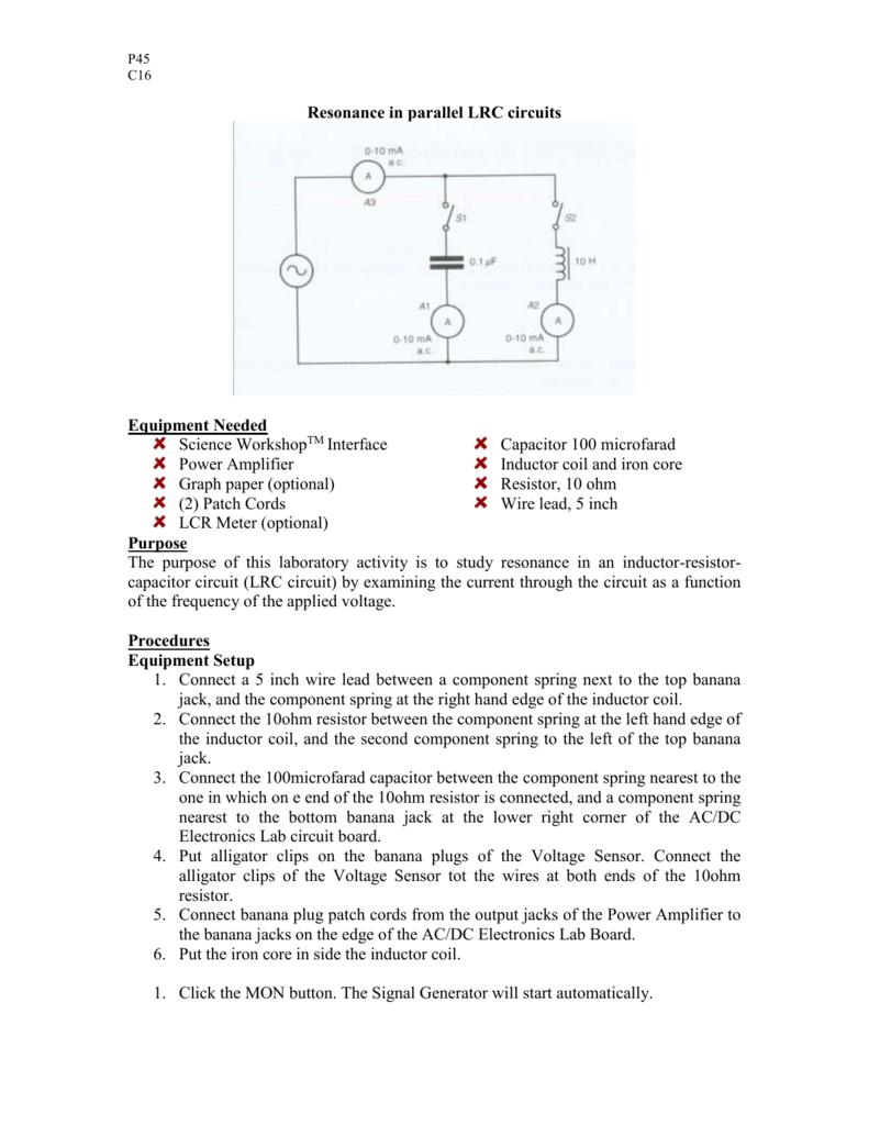 Worksheet Coil Inductance Meter Circuit Diagram