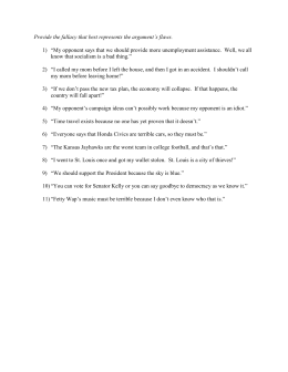 Fallacies Practice Worksheets 10-20
