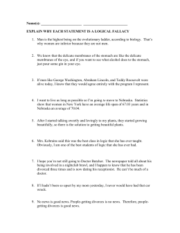 Fallacies Worksheet #1