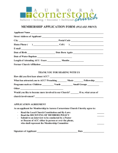 MEMBERSHIP APPLICATION FORM (PLEASE PRINT) Applicant