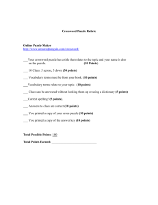 Crossword Puzzle Rubric - Mrs. Curtis's Social Studies Classroom