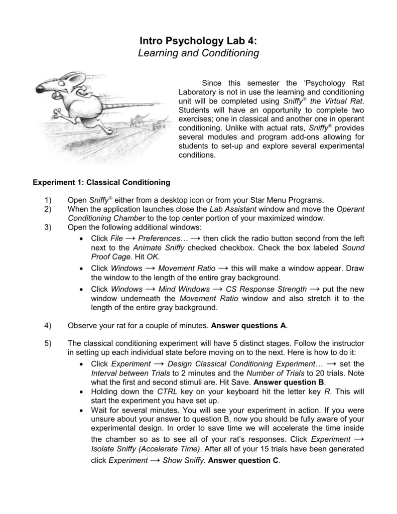 sniffy the virtual rat lab report answers