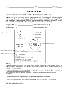 Element Cards Directions