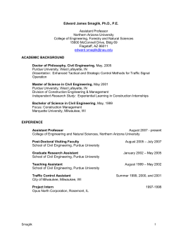 Curriculum Vitae - Northern Arizona University
