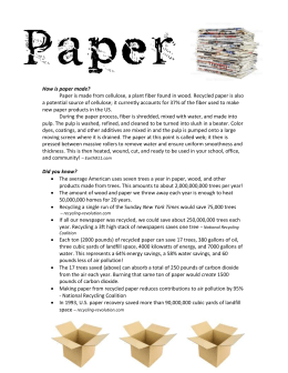 on Paper Recycling