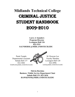 Criminal Justice Handbook - Midlands Technical College