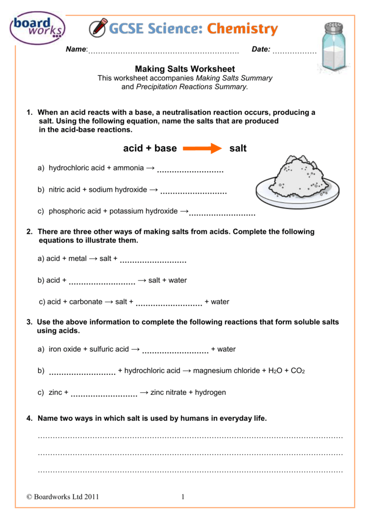 Making Salts Worksheet. 0085064161771c20c8df6ace8e7b66c98f1a0c1df7. Worksheet. Acid Base Reactions Worksheet At Clickcart.co