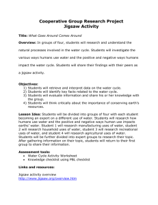 Jigsaw Activity Lesson - Boise State University
