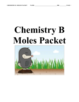 chemistry worksheet # 2: the mole as a unit of mass